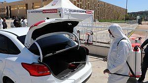 Şanlıurfa'da 15 bin araç dezenfekte edildi (Videolu Haber)