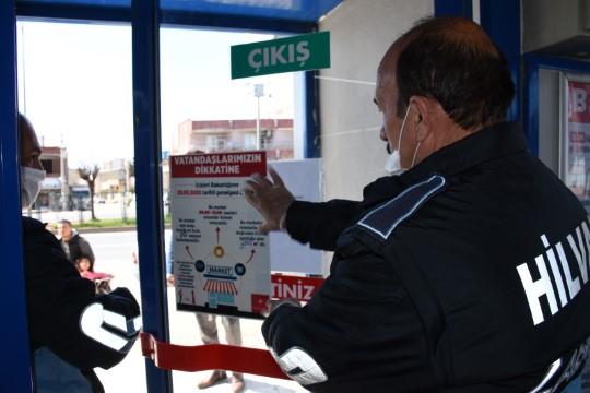 Şanlıurfa'da banka ve marketlere korona uygulaması