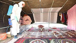 Çadırı yanan aileye yardım eli