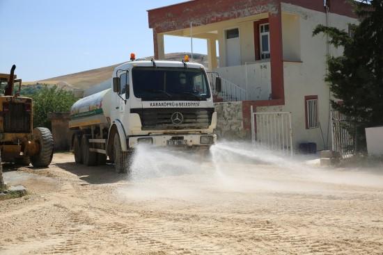 Horzum mahallesi tozdan ve çamurdan arındırılıyor (Videolu Haber)