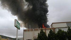 Urf'da İplik fabrikasında yangın
