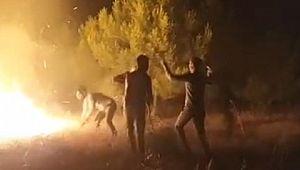 Urfa'da otomobilden atılan sigara izmariti yangını