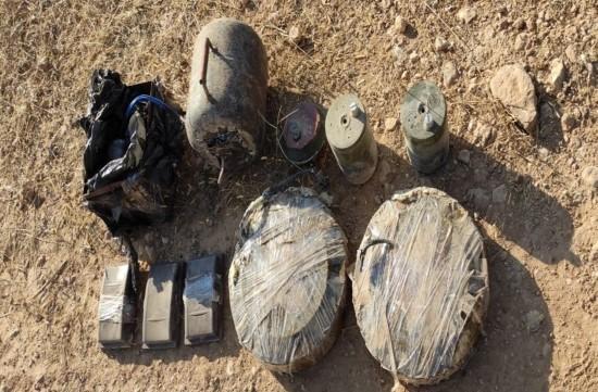 Barış Pınarı bölgesinde 68 kilogram patlayıcı ele geçirildi (Videolu Haber)