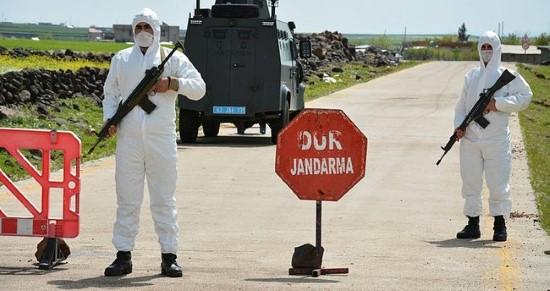 Şanlıurfa'da bir sokak ile 8 bina karantinaya alındı