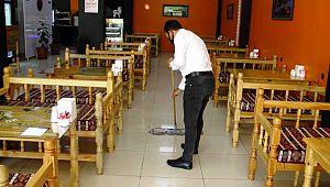 Suriye sınırındaki restoranlar hizmet vermeye başladı