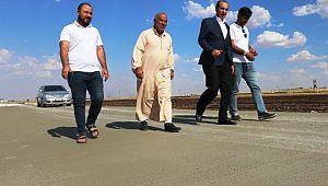 Yalçınkaya beton yol çalışmalarını denetledi. (Videolu Haber)