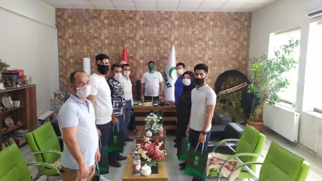 Yeşilay şanlıurfa şubesine mücadelede bizde varız ziyareti