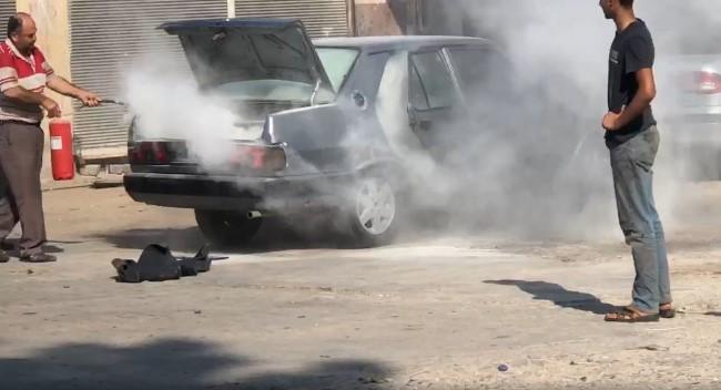 Aracın yakıt tankı sıcağa dayanamayıp bomba gibi patladı (Video)