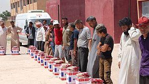 Barış pınarında bayram öncesi insani yardım dağıtımı tamamlandı (Video)