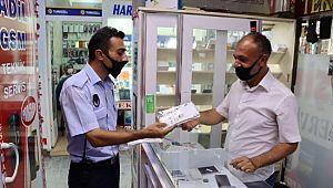 Büyükşehir'den esnafa ücretsiz maske dağıtımı (Videolu Haber)