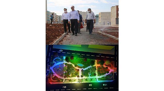 Eyyübiye belediyesi, yeşil alanlar kazandırmaya devam ediyor (Video)