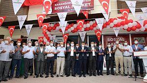 Karaköprü'de sosyal market açıldı (Videolu Haber)