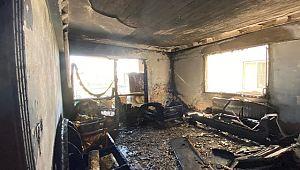 Şanlıurfa'da klimadan yangın korkuttu (video)