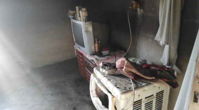 Akçakale'de evde çıkan yangında zarar büyük