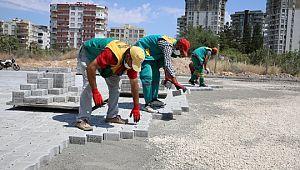 Atakent'te yollar kilitli parkeyle döşeniyor (Videolu Haber)
