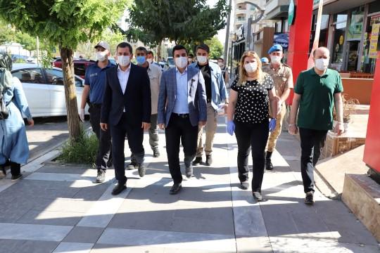 Baydilli pandemi denetimine katıldı (Videolu Haber)