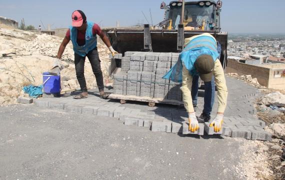 Eyyübiye belediyesi, yol yapımını aralıksız sürdürüyor (Videolu Haber)