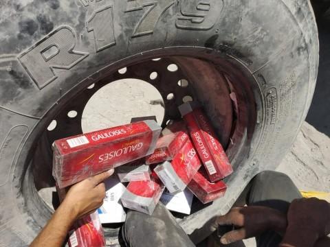 Gümrükte bin 810 paket kaçak sigara ele geçirildi