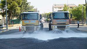 Haliliye'de sokak sokak temizlik ve dezenfekte sürüyor (Videolu Haber)