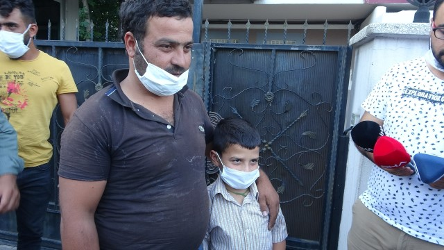 Kaybolduktan 5 gün sonra bulunan 10 yaşındaki Hüseyin ailesine kavuştu (Video)