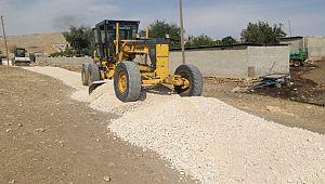 Eyyübiye belediyesi yol yapımına ara vermeden devam ediyor (Videolu Haber)