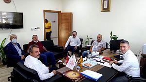 Karaköprü belediyespor yönetiminden Şanlıurfa Büyükşehir belediyesi spor şb.müdürlerine ziyaret