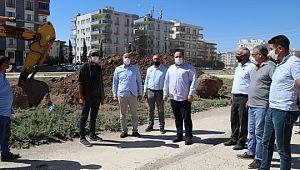 Viranşehir'de Tren yolu parkının yapım çalışmaları başladı
