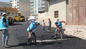 Eyyübiye Belediyesi, asfalt serim çalışmalarını sürdürüyor (Videolu Haber)