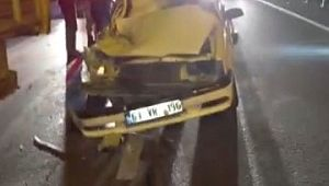 Otomobil odun yüklü kamyona arkadan çarptı (Videolu Haber)