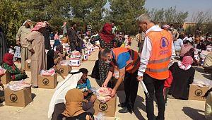Pursaklar'dan Şanlıurfa'daki Suriyelilere yardım
