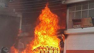 Siverek'te korkutan yangın (Video)