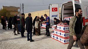 AFAD, Barış Pınarında insani yardımlara devam ediyor (Videolu Haber)