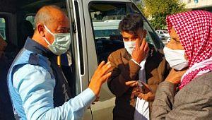 Akçakale'de minibüslerde koronavirüs denetimi (Videolu Haber)