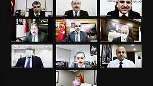 Bakan Koca Şanlıurfa ve 9 ilin sağlık müdürü ile görüştü
