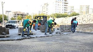 Karaköprü'de yollar kilitli parkeyle yenileniyor (Videolu Haber)