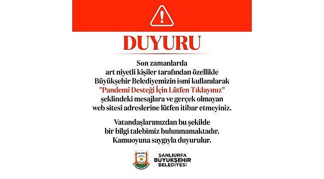 Büyükşehir'den vatandaşlara önemli uyarı!
