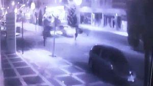Genç kızın öldüğü kaza kamerada