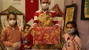 Sanat atölyesi ile çocuklar hayal gücünü geliştiriyor (Videolu Haber)