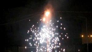 Şanlıurfa'da elektrik direğindeki patlama anları kamerada (Videolu Haber)
