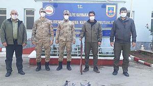 Şanlıurfa'da kaçak avlanan bir kişi yakalandı