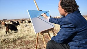 Siverekli çoban, usta ressamlara taş çıkartıyor (Videolu Haber)