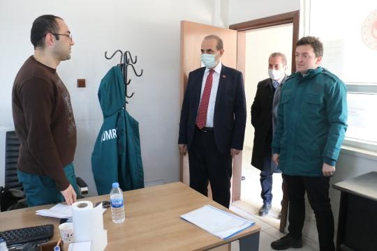 Yalçınkaya'dan gümrük personellerine anlamlı ziyaret (Videolu Haber)