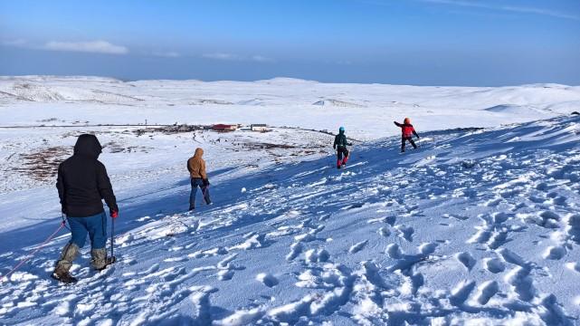Şanlıurfalı dağcılar Karacadağ'da kış tırmanış eğitimi yaptılar