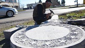 Taş sanatçısı Cumhurbaşkanına olan sevgisini taşa yansıtıyor