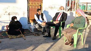 Yalçınkaya'dan yaşlılara moral ziyareti (Videolu Haber)
