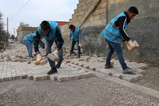 Haliliye Belediyesinden 3 mahallede üst yapı çalışması (Videolu Haber)