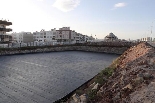 Haliliye'deki spor kompleksinde hummalı çalışma
