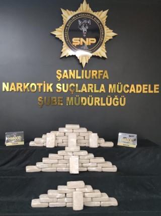 Şanlıurfa'da 38 kilo 850 gram eroin ele geçirildi