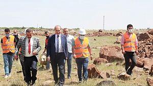 Akçakale'de doğalgaz çalışmaları başladı