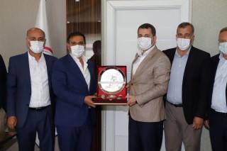 Şanlıurfaspor yönetiminden Baydilli'ye teşekkür ziyareti